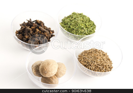 spices assortment stock photo, spices assortment in detail by FranziskaKrause