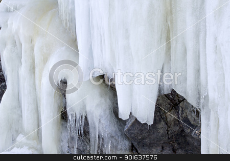 Icicles  stock photo, Nature landscape of beautiful icicles  by Ingvar Bjork