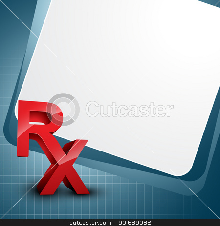 Rx vector stock vector clipart, vector background with Rx symbol by pinnacleanimates