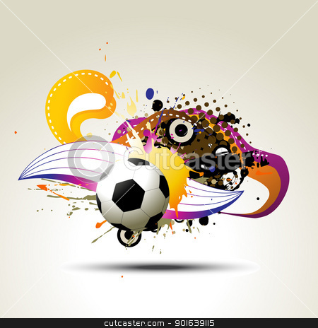 football vector artistic design stock vector clipart, football vector artistic design illustration by pinnacleanimates
