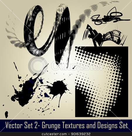 vector abstract design stock vector clipart, vector abstract grunge set elements and design by pinnacleanimates