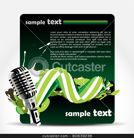 vector mic background stock vector clipart, vector mic on music background by pinnacleanimates