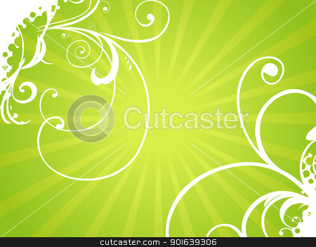 Abstract floral background stock vector clipart, Abstract vector floral background by pinnacleanimates