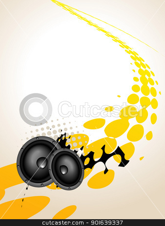 speaker music art stock vector clipart, vector speaker music art background by pinnacleanimates