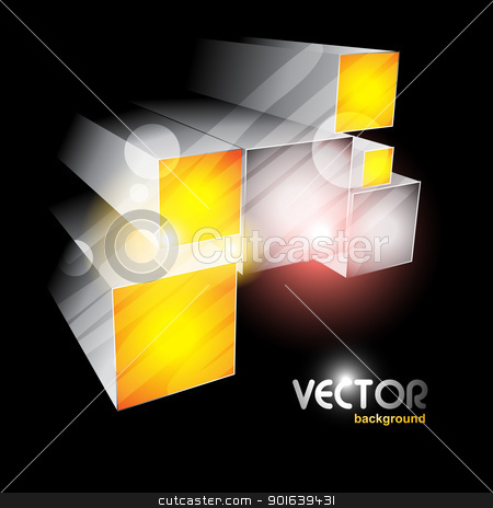 cube shapes stock vector clipart, eps10 vector cube shapes emerging in dark background by pinnacleanimates