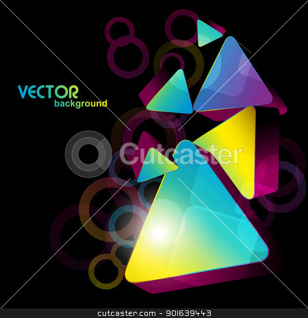 shiny abstract shape artwork stock vector clipart, 3d abstract shape eps10 design by pinnacleanimates