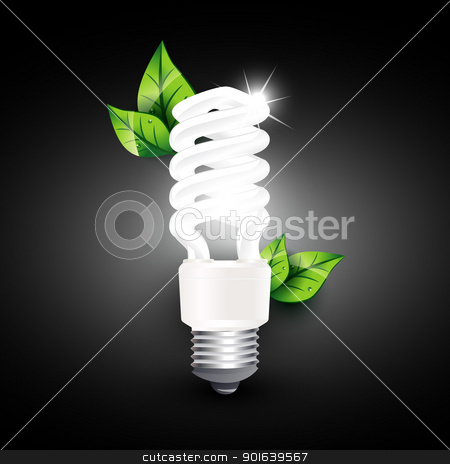 vector cfl stock vector clipart, vector cfl design illustration by pinnacleanimates