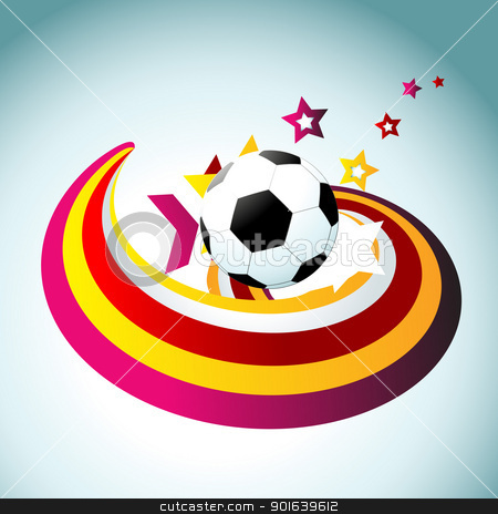 football vector artistic design  stock vector clipart, vector football colorful artistic design by pinnacleanimates