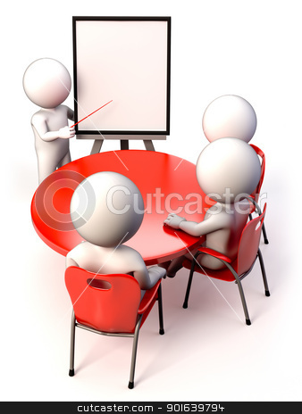 Meeting stock photo, A meeting with people in a presentation by JAlcaraz