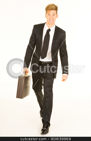 businessman with briefcase stock photo, businessman with briefcase by ambrophoto