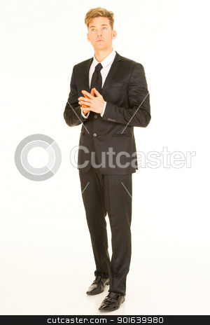 businessman standing stock photo, businessman standing by ambrophoto