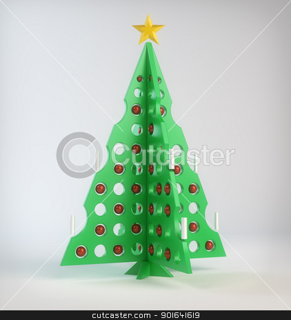 Abstract Christmas tree stock photo, Abstract designer Christmas tree by Mopic