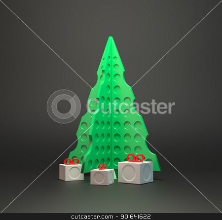 Abstract designer Christmas tree stock photo, Abstract designer Christmas tree by Mopic