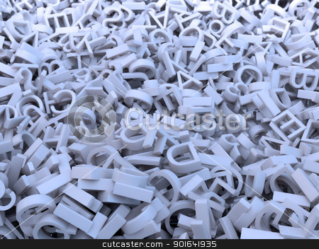 Random letters stock photo, Huge amount of random letters  by Mopic
