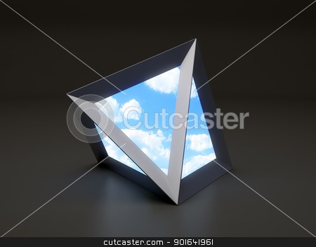 Sky portal stock photo, A futuristic portal to another dimension by Mopic