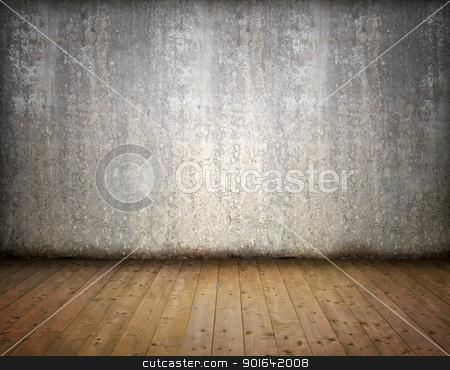 Grunge abstract empty room stock photo, Grunge abstract empty room - interior background image by Mopic