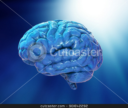 Abstract brain stock photo, Abstract brain illustration  by Mopic