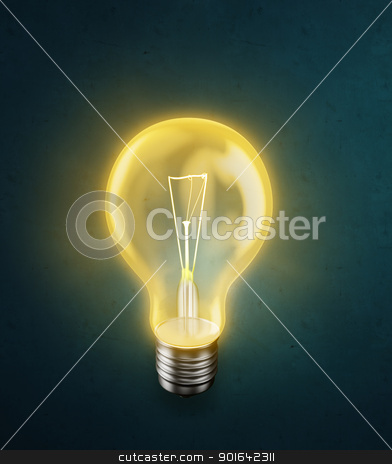 Glowing bulb stock photo, Glowing bulb -energy concept illustration by Mopic