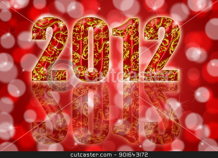 2012 Chinese Year of the Dragon Red Background stock photo, 2012 Happy Chinese Year of the Dragon Design Red Blurred Background by Jit Lim