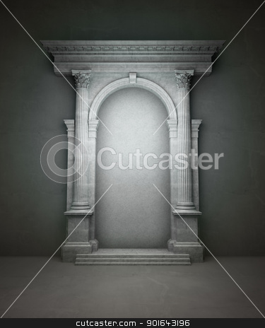 Classical portal  stock photo, Classical portal with corinthian columns and an arcade by Mopic