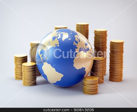 Global finance industry concept illustration stock photo, Global finance industry concept illustration by Mopic