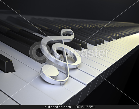 The G-Clef symbol - musical background image stock photo,  The G-Clef symbol - musical background image by Mopic