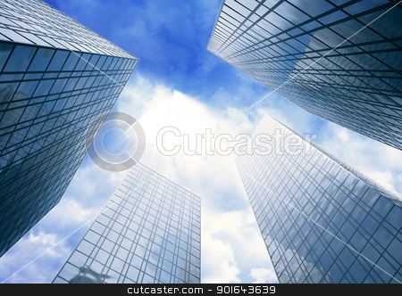 Skyscrapers stock photo, Skyscrapers by Mopic