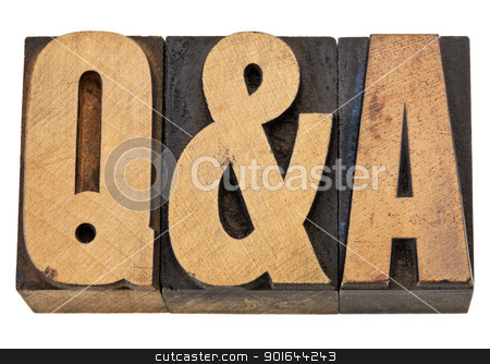 questions and answers - Q&A stock photo, Q&A - questions and answers acronym - isolated text in vintage letterpress wood type by Marek Uliasz