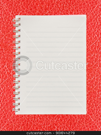  background red  leather   stock photo, Blank paper with on  red leather background by stoonn