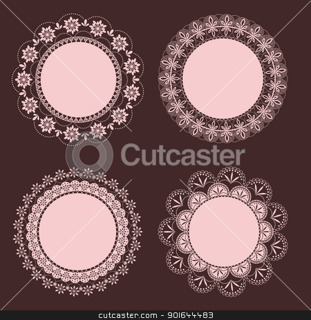set of vintage floral frame stock vector clipart,  by meikis