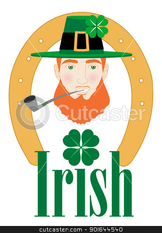 St. Patricks Irish Design stock vector clipart, Vector Illustration for St. Patricks Irish Design with Leprechaun. by Basheera Hassanali