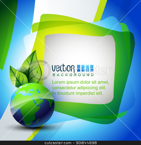 vector earth stock vector clipart, elegant vector blue color earth design by pinnacleanimates