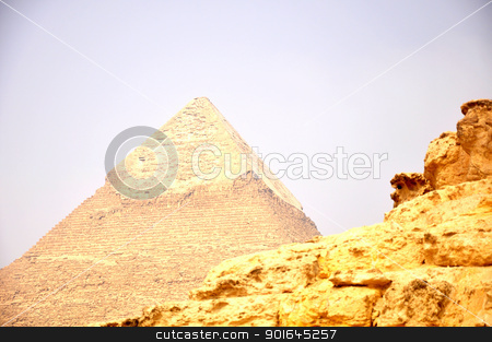 Pyramid Giza in Cairo Egypt stock photo, Landmark of the historic Pyramid Giza in Cairo Egypt by John Young