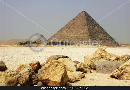 Pyramid in Cairo Egypt stock photo, Landmark of the famous historic Pyramid in Cairo Egypt by John Young
