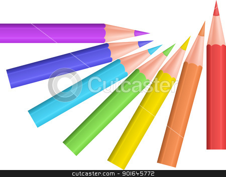 Color pencils stock vector clipart, Color pencils. Vector illustration. by vtorous