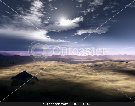 Desert Sunset stock photo, An image of a nice desert sunset by Markus Gann
