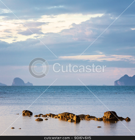 Andaman Seascape stock photo, Andaman Sea with islands, Thailand, landscape at evening by Petr Malyshev