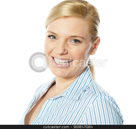 Female business executive, close-up stock photo, Smiling beautiful female business executive, close-up by Ishay Botbol