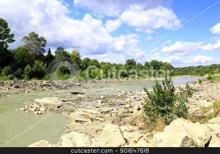 Landscape with green park and river stock photo, Image of landscape with green park and small river by Julialine