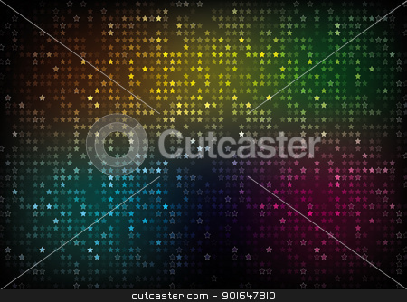 Color Spectrum Abstract Background  stock vector clipart, Color Spectrum Abstract Background  Color Stars by kurkalukas