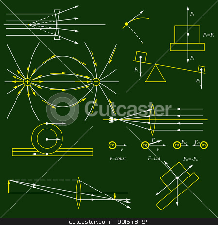 Physics background stock photo, Physics background by vtorous