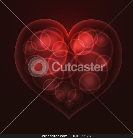 Heart shape stock vector clipart, Red heart by vtorous
