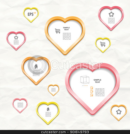 Heart stock vector clipart, Modern creative vector blog with heart by naturartist