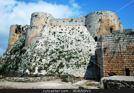 Ancient castle in Syria stock photo, Scenery of a famous ancient castle in Syria by John Young