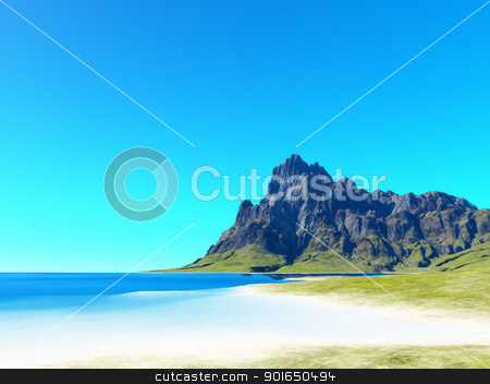 beach scenery background stock photo, An image of a nice beach scenery background by Markus Gann