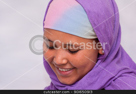  Portrait of young Ethiopian woman stock photo, portrait photograph of a young Ethiopian woman with a smile on her face by derejeb