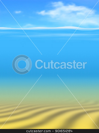 Undersea stock vector clipart, Editable vector underwater background made using gradient meshes with sky and water as separate objects by Robert Adrian Hillman