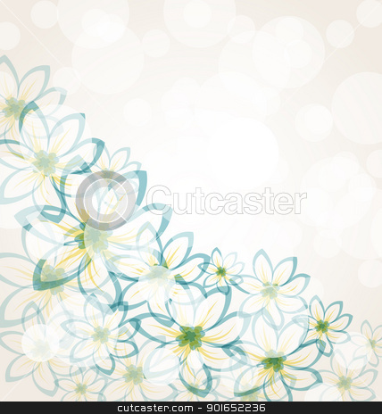 Spring flower background stock vector clipart, Illustration spring flower background with transparency elements for design card. Vintage style - vector by -=Mad Dog=-