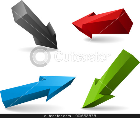 Ser of vector arrows stock vector clipart, Ser of four vector arrows by vtorous