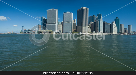 lower manhattan stock photo, new yorks lower manhattan, photo taken from boat by Robert Remen